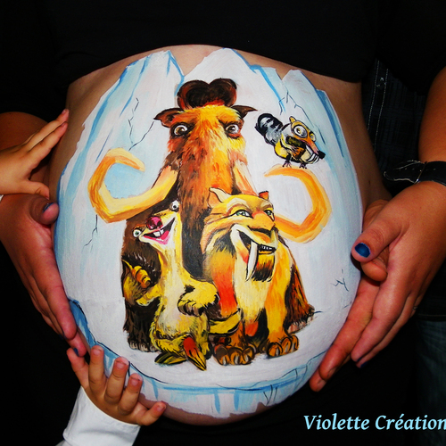Calvados Belly Painting, Maquillage :Violette Création