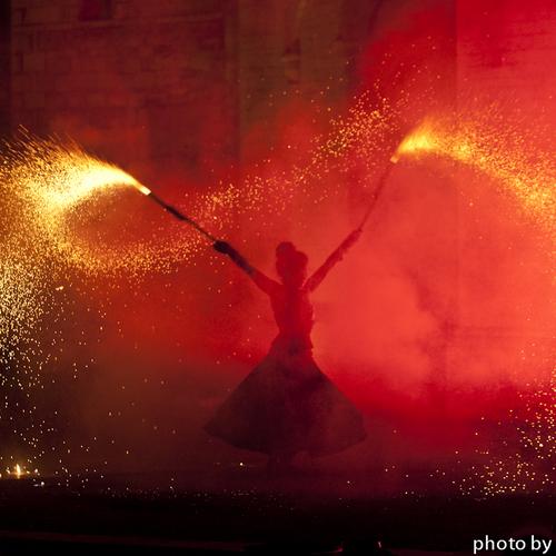 Anne Donard - Spectacle visuel - Feu - Pyrotechnie - Langres - Dijon