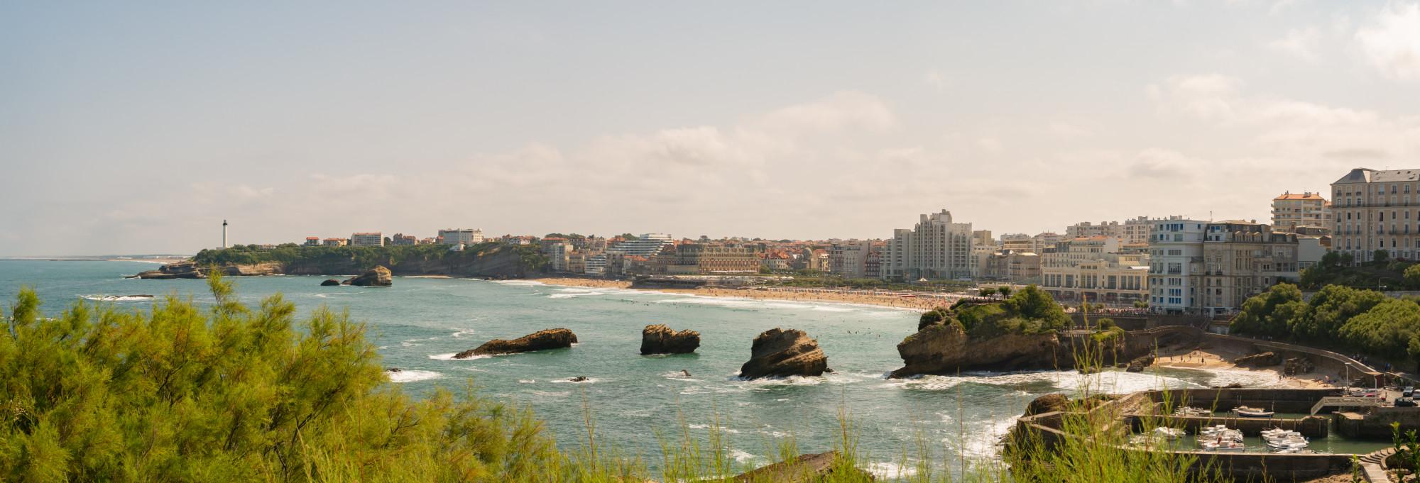Panoramique de Biarritz, France - Pays Basque, France & Espagne