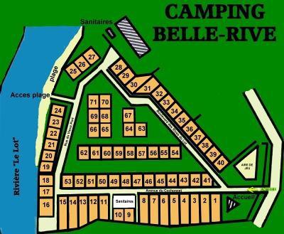 Plan du camping Bellerive à Espalion