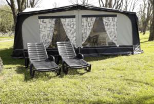Caravane au camping Bellerive
