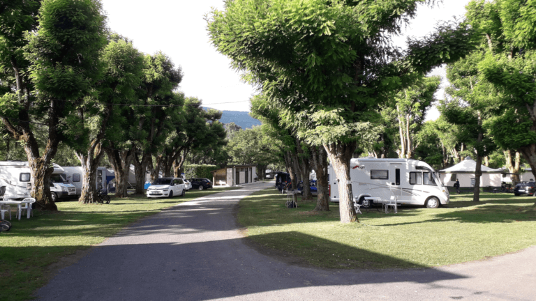 Emplacement au camping Bellerive
