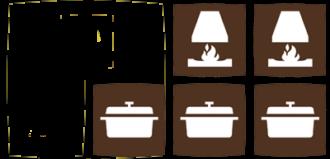 logis et cocottes et cheminees