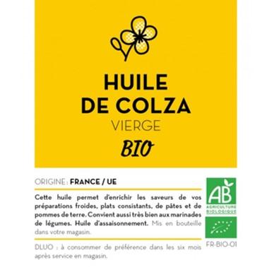 HUILE DE COLZA VIERGE