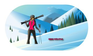 housse de protection masque de ski skieuse jao collection