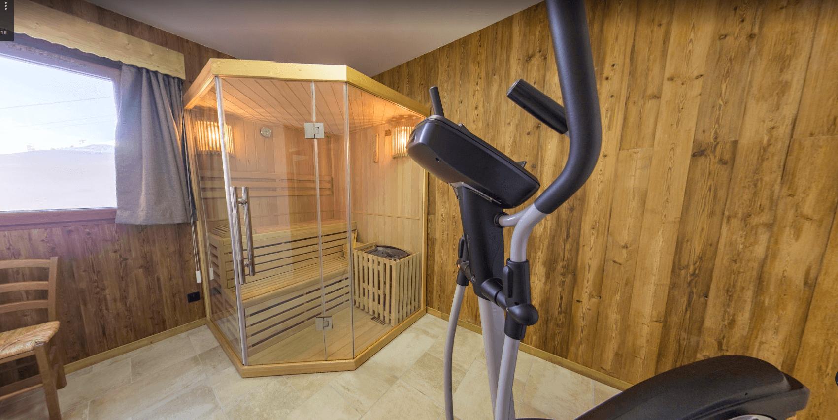location de chalet avec sauna aux menuires