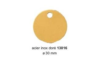 Médaille ronde en laiton doré diam. 26mm réf 13016