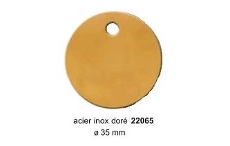 Médaille ronde en laiton doré diam. 33mm réf 22065