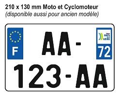 210 x 130 mm Moto et Cyclomoteur