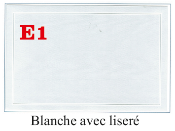 E1 Blanche avec liseré