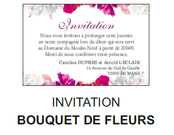 Invitation bouquet de fleurs