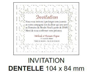 Invitation dentelle