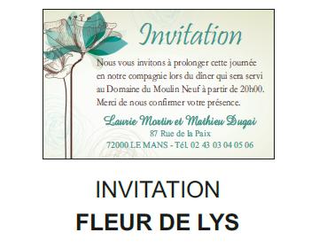 Invitation fleur de lys