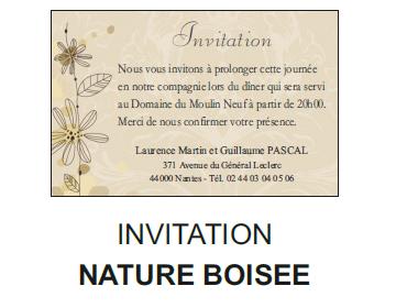 Invitation nature boisée