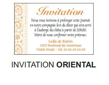 Invitation oriental