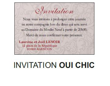 Invitation Oui chic