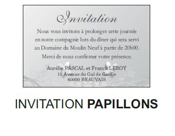 Invitation papillons