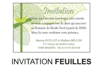 Invitation feuilles