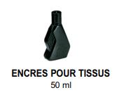 Encres pour tissus 50ml