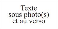 Texte sous photo(s) et au verso