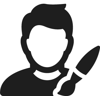 icone picto graphiste pour impression