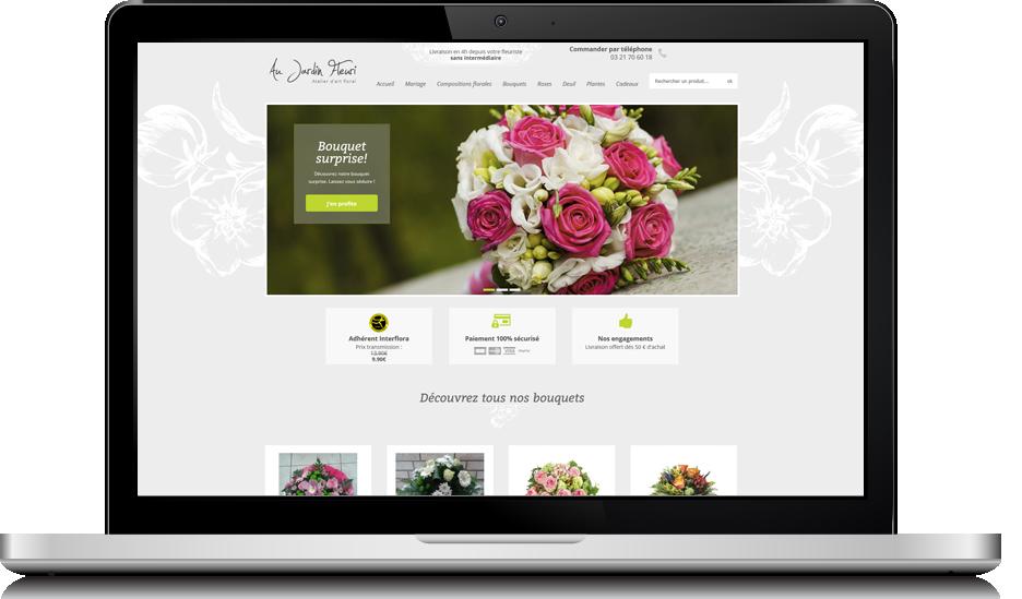 exemple de site e-commerce créé par l'agence Y-Proximité