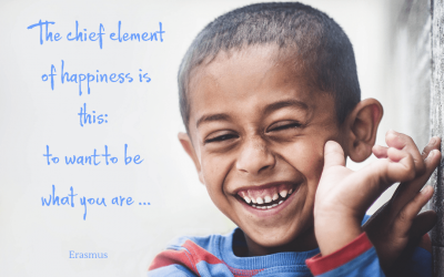 The chief element of happiness